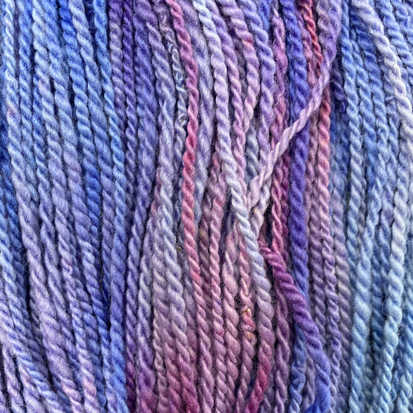 Bluefaced Leicester Chunky (Worsted) weight 100g (3.52 oz) skein Warwick shades of purple