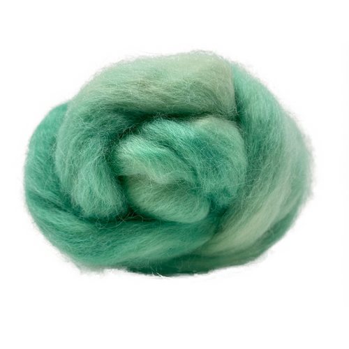 Pure Wensleydale Hand Dyed Combed Top - Bottle Green