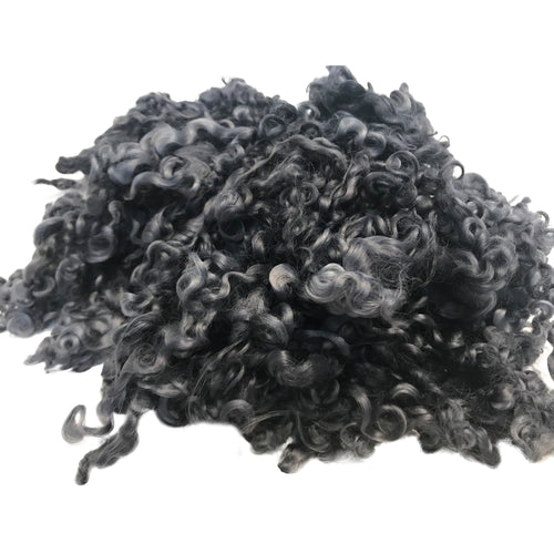 Charcoal - Wensleydale - Hand Dyed locks/fleece