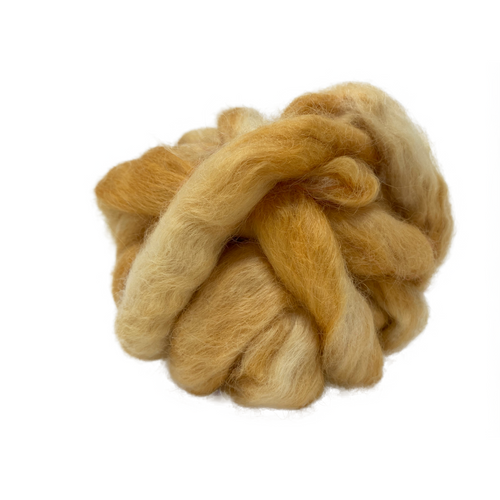 Pure Wensleydale Hand Dyed Combed Top - Dingo