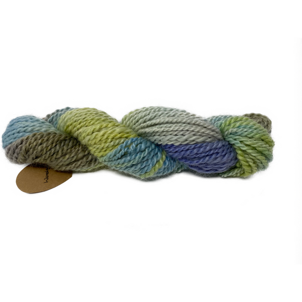 Hand-spun Wensleydale Chunky (Worsted) weight 150g (5.29oz) skein Warwick sky