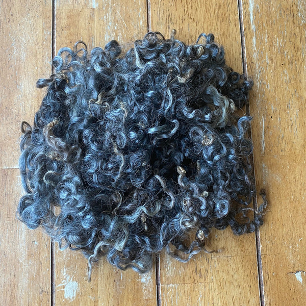 Wensleydale - Washed Black Wensleydale locks/Fleece