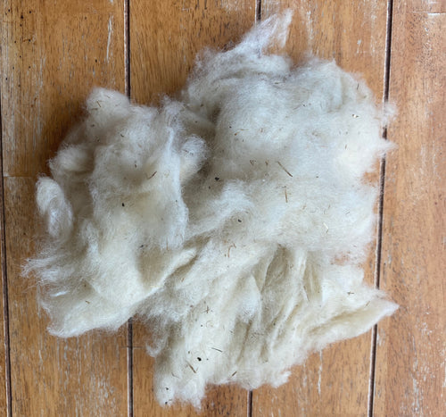 NOIL - Washed White Wensleydale Noil - Fleece