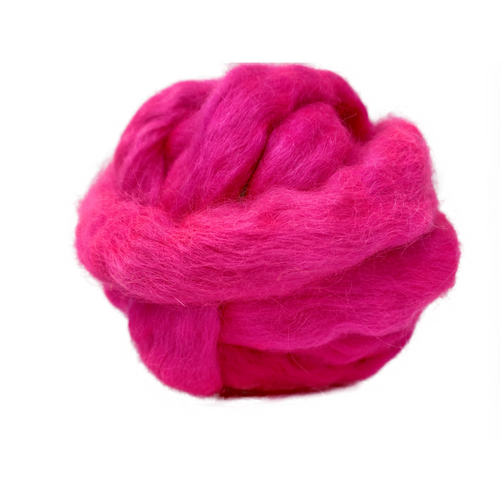 Pure Wensleydale Hand Dyed Combed Top - 100g (3.53 oz) Galah