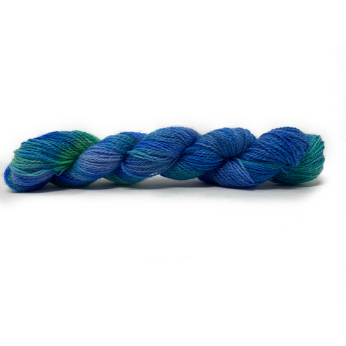 Hand-painted collection Blues Paint 4ply (Fingering/Sports Weight) 50g (1.76 oz): Rare Breed Wensleydale and Bluefaced Leicester