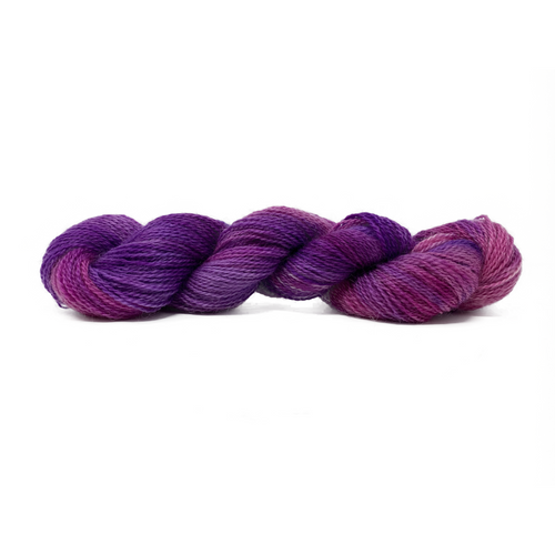 Hand-painted collection Purple Paint 4ply (Fingering/Sports Weight) 50g (1.76 oz): Rare Breed Wensleydale and Bluefaced Leicester