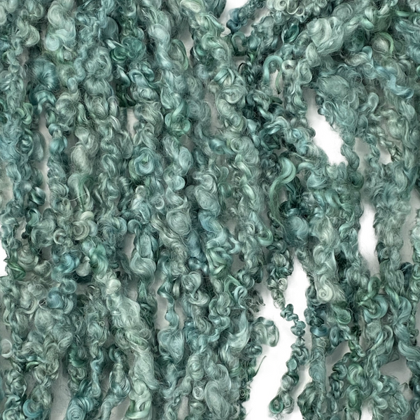 Hand spun - Lock spun Wensleydale - Hiraeth Collection in Emerald