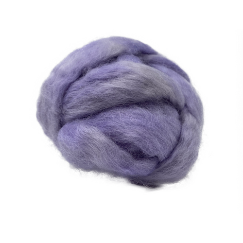 Pure Wensleydale Hand Dyed Combed Top - 100g (3.53 oz) Lavendar
