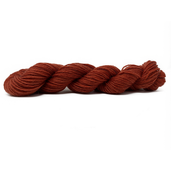 Home Farm collection - Red Ochre DK (8 Ply/Light Worsted) 50g (1.76 oz): Rare Breed Wensleydale and Bluefaced Leicester