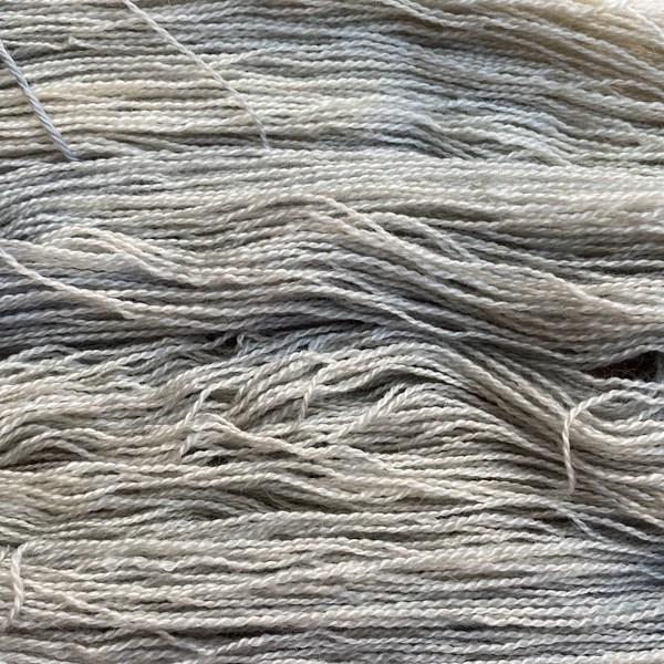 Home Farm collection - 4 Ply (Fingering/Sports Weight) 50g (1.76 oz): Rare Breed Wensleydale and Bluefaced Leicester Silver