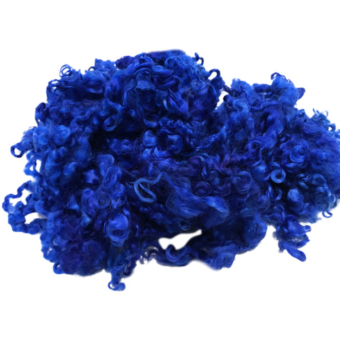 Ultramarine - Wensleydale - Hand Dyed locks/fleece