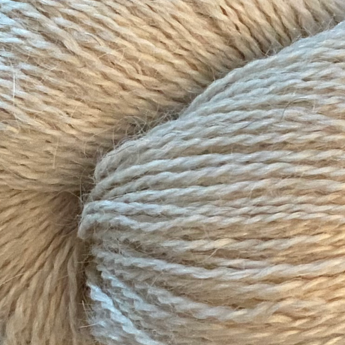 Natural 4ply (Fingering/Sports Weight) 100g (3.53 oz):  Rare Breed Wensleydale and Royal Suri Alpaca