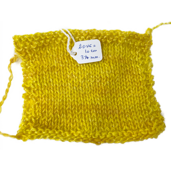 Hand-spun Wensleydale Aran (Worsted) weight 100g (3.52 oz) skein Bayeux shades of sunshine