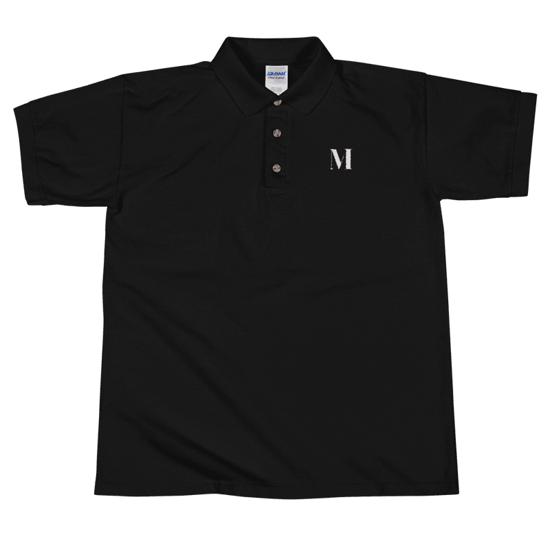 Meme.Shopping Meme Insider Embroidered Polo Shirt Black / 2XL