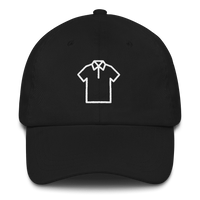 Meme.Shopping Shirt Dad Hat White Embroidered Black