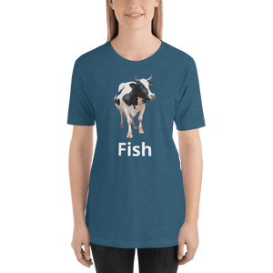 Meme.Shopping Fish? Heather Deep Teal / 2XL