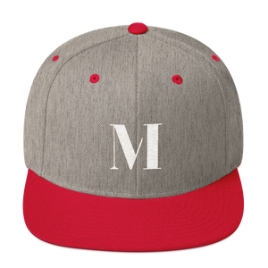 Meme.Shopping Meme Insider Snapback Hat Heather Grey/ Red