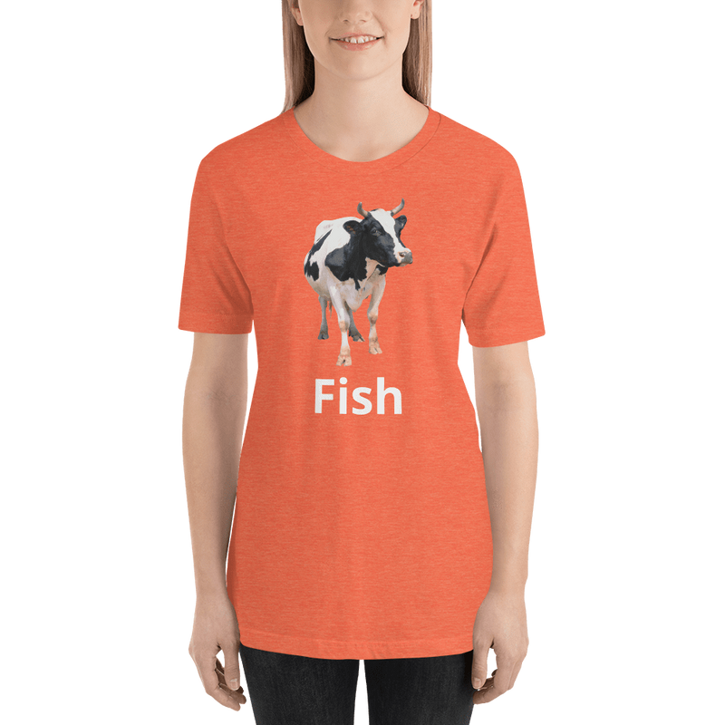 Meme.Shopping Fish? Heather Orange / 2XL