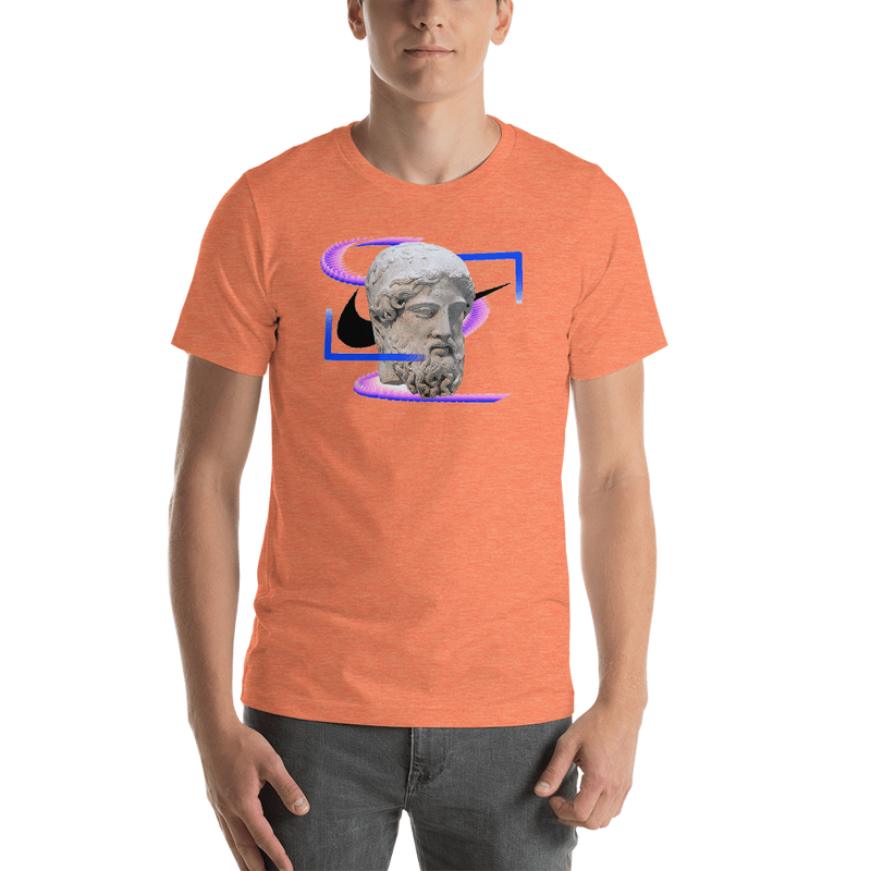 Meme.Shopping Modern Past Heather Orange / 2XL