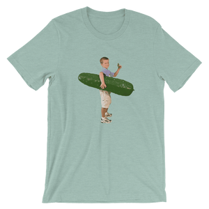 Meme.Shopping Pickle Boy Heather Prism Dusty Blue / 3XL