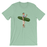 Meme.Shopping Pickle Boy Heather Prism Mint / 3XL