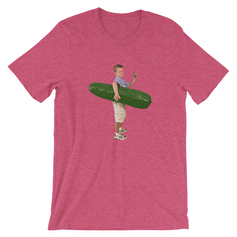 Meme.Shopping Pickle Boy Heather Raspberry / 3XL