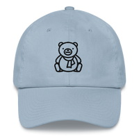 Meme.Shopping Christmas Teddy Dad hat Light Blue