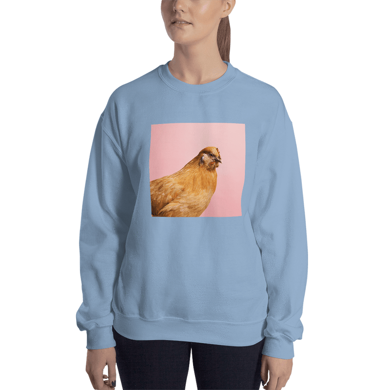 Meme.Shopping Wing-It Sweatshirt Light Blue / 2XL