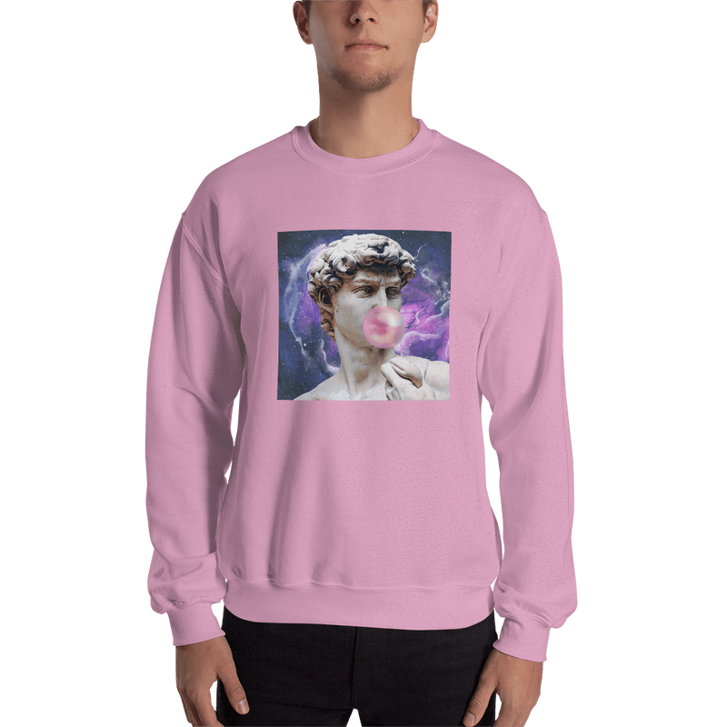 Meme.Shopping Poppin Sweatshirt Light Pink / 2XL