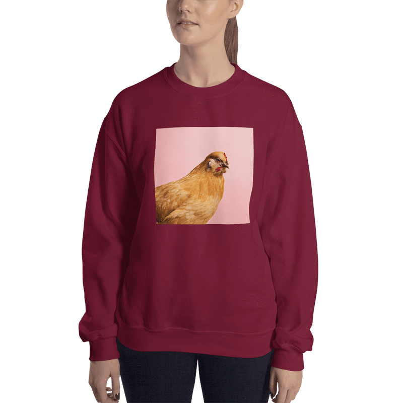 Meme.Shopping Wing-It Sweatshirt Maroon / 2XL