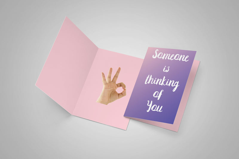 Meme.Shopping Someone is Thinking of You Greeting Card  Meme Card