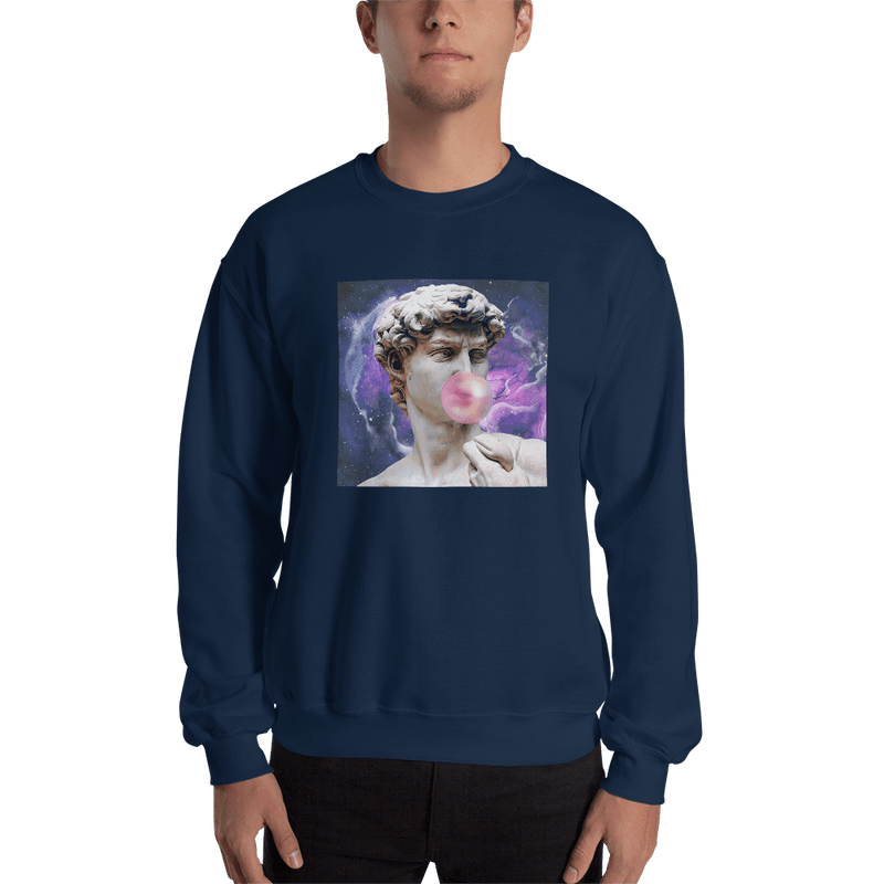 Meme.Shopping Poppin Sweatshirt Navy / 2XL