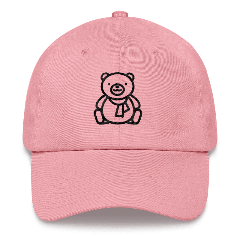 Meme.Shopping Christmas Teddy Dad hat Pink