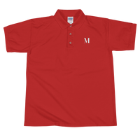Meme.Shopping Meme Insider Embroidered Polo Shirt Red / 2XL