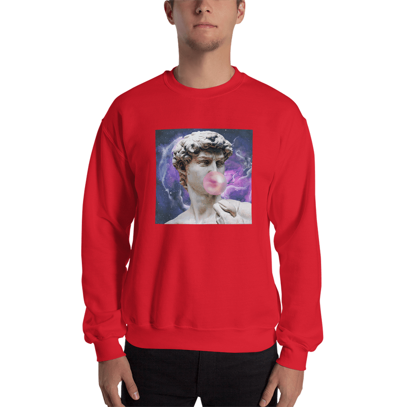 Meme.Shopping Poppin Sweatshirt Red / 2XL