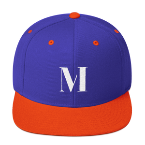 Meme.Shopping Meme Insider Snapback Hat Royal/ Orange