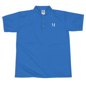Meme.Shopping Meme Insider Embroidered Polo Shirt Royal / 2XL
