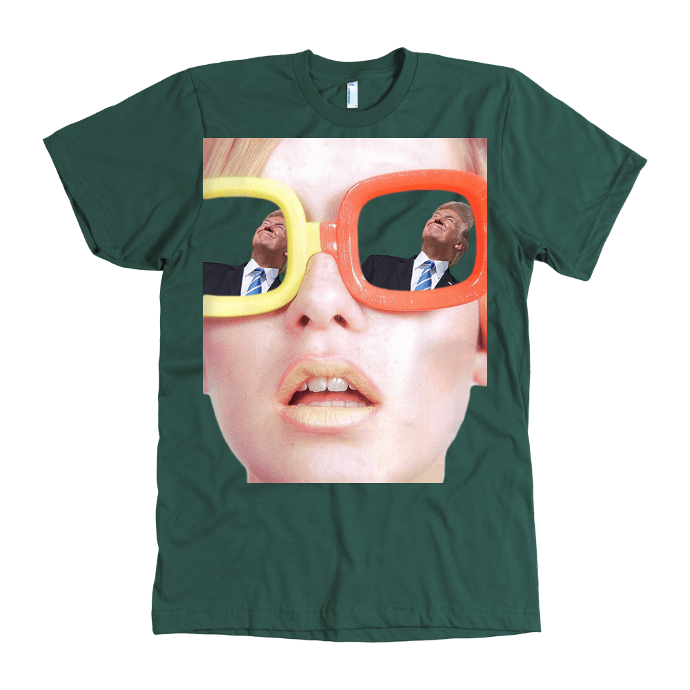 teelaunch T-shirt American Apparel Mens / Forest / S Trump View
