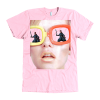 Meme.Shopping Dino Tee American Apparel Mens / Pink / 3XL T-shirt