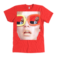 teelaunch T-shirt American Apparel Mens / Red / S Trump View