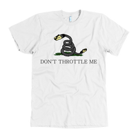Meme.Shopping Don't Throttle Me Tee American Apparel Mens / White / 3XL T-shirt