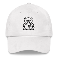 Meme.Shopping Christmas Teddy Dad hat White