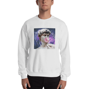 Meme.Shopping Poppin Sweatshirt White / 2XL