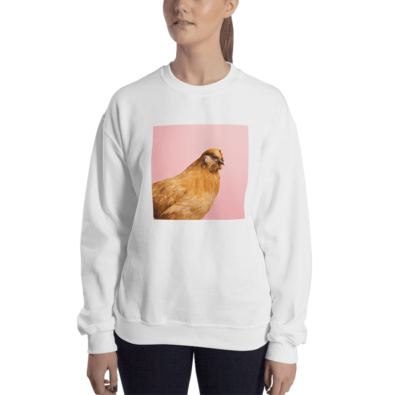 Meme.Shopping Wing-It Sweatshirt White / 2XL