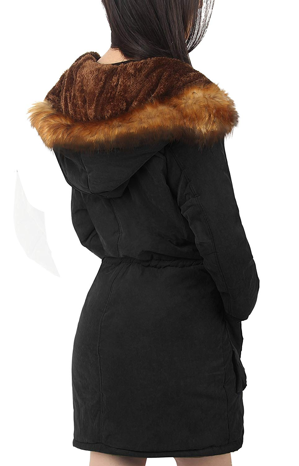 318a3ee2c51 ... iLoveSIA Womens Hooded Warm Coats Parkas with Faux Fur Jackets ...