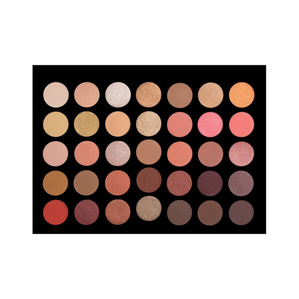 Crown 35 Color Rose Gold Eyeshadow Pallete