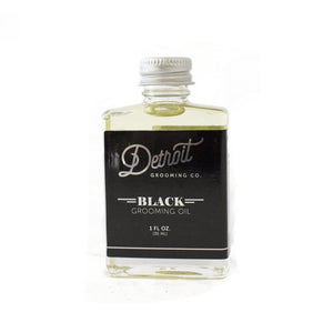 Detroit Grooming Co. Beard Oil - 'Black' Amber Bourbon - 1 oz. Bottle