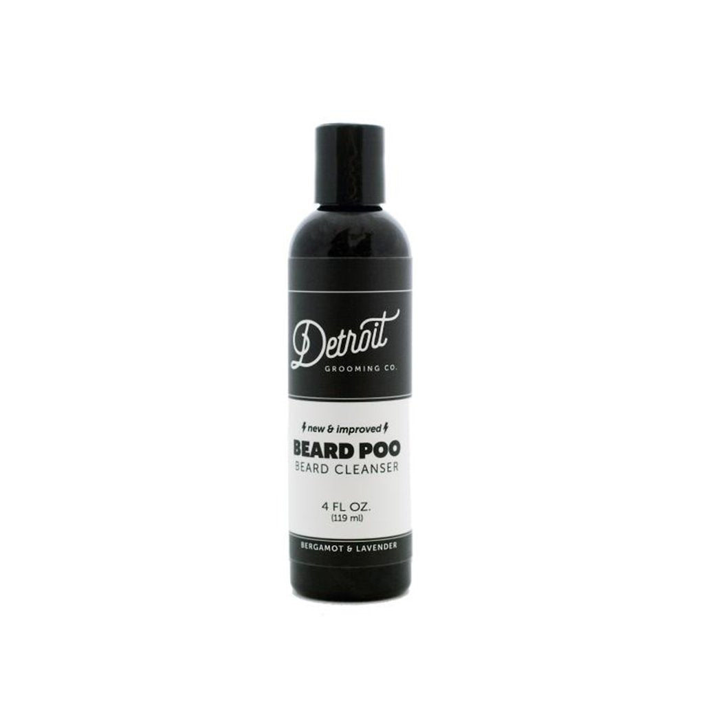 Detroit Grooming Co. Beard Poo - Bergamot & Lavender - 4 oz. Beard Wash & Cleanser