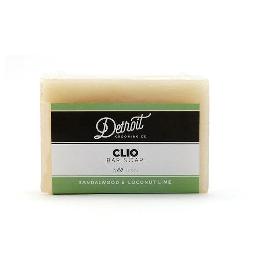 Detroit Grooming Co. Clio Bar Soap - Sandalwood and Coconut Lime - 4 oz. For Men