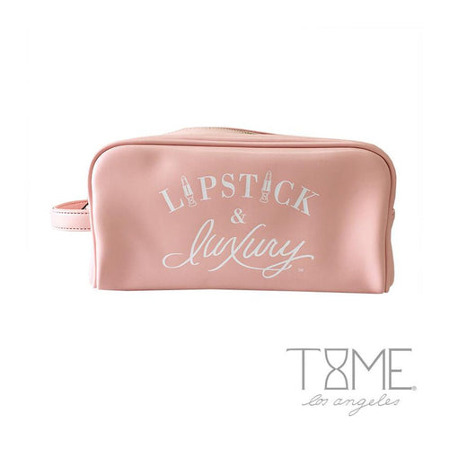 Time Los Angeles Lipstick and Luxury Cosmetic Bag